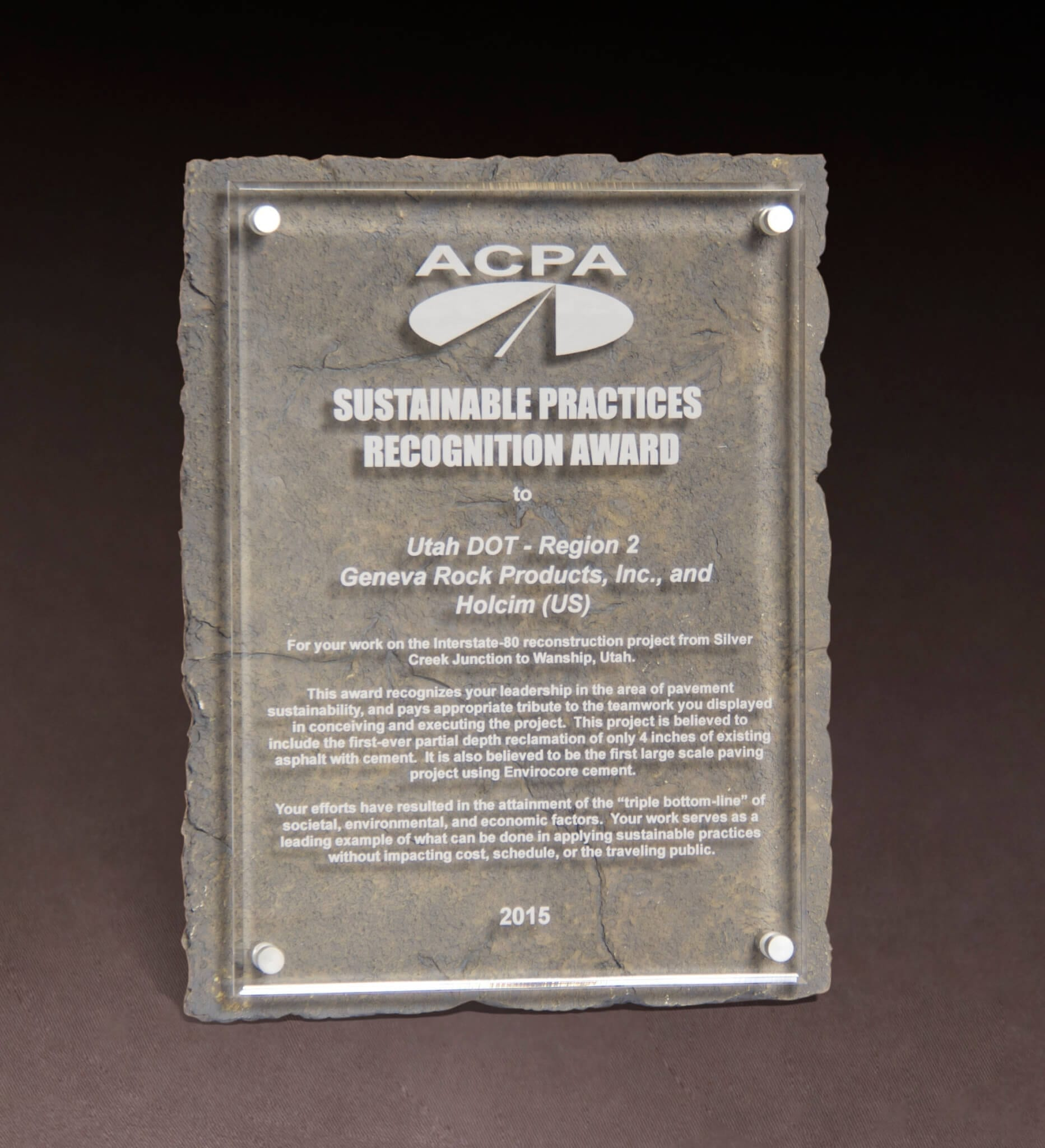 ACPA Sustainable Practices Recognition