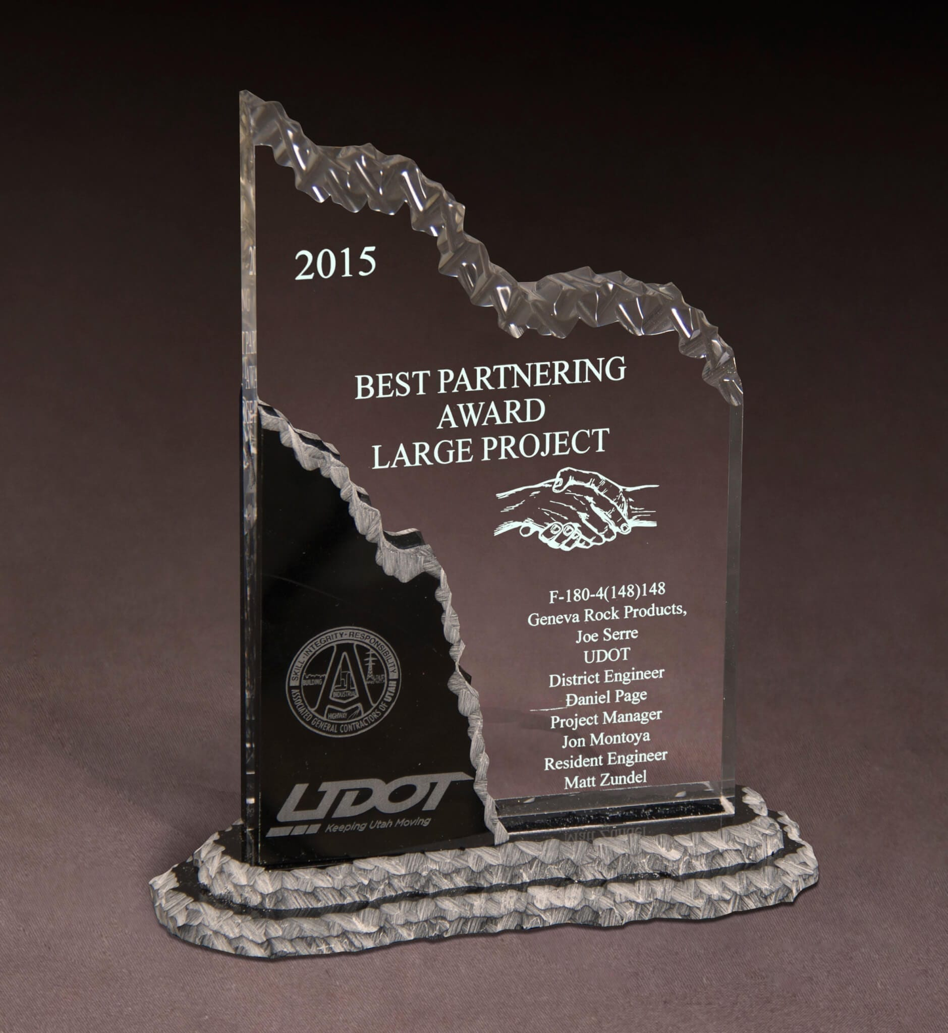 UDOT & AGC of Utah Best Partnering Large Project