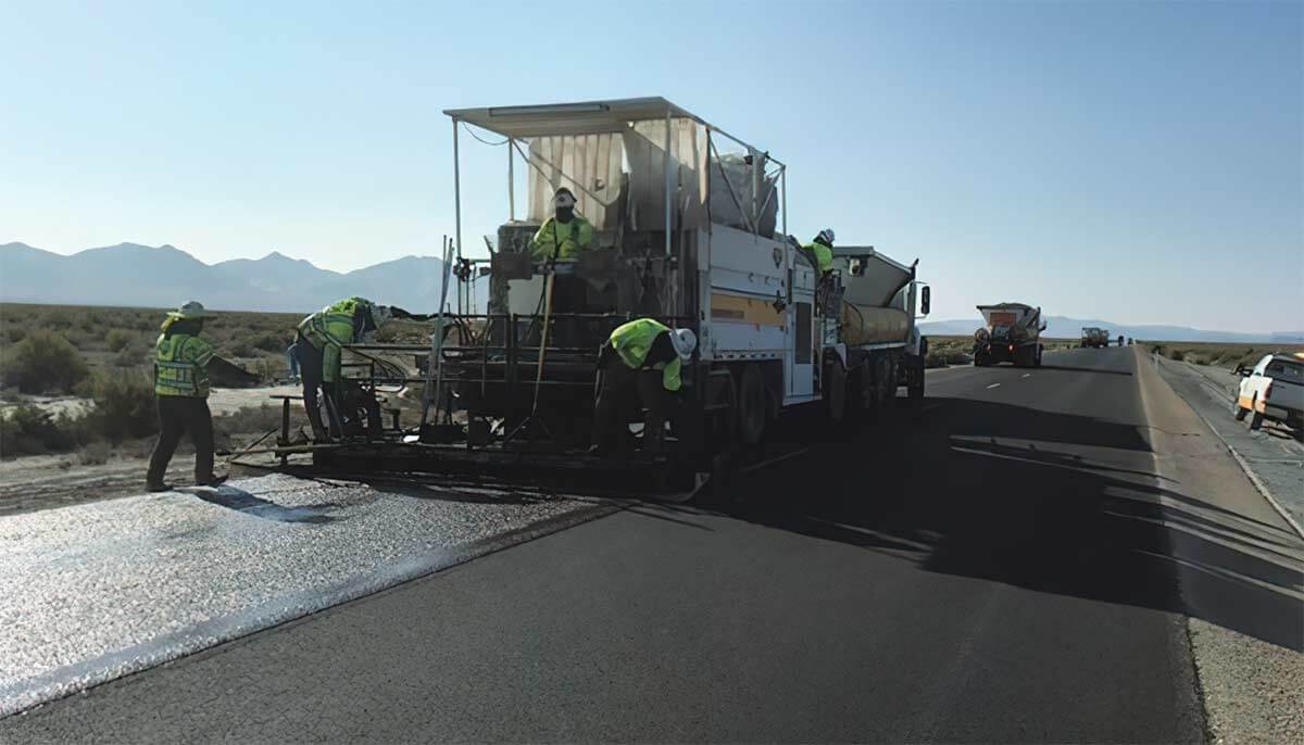 Brush Wellman Road with new Slurry Seal