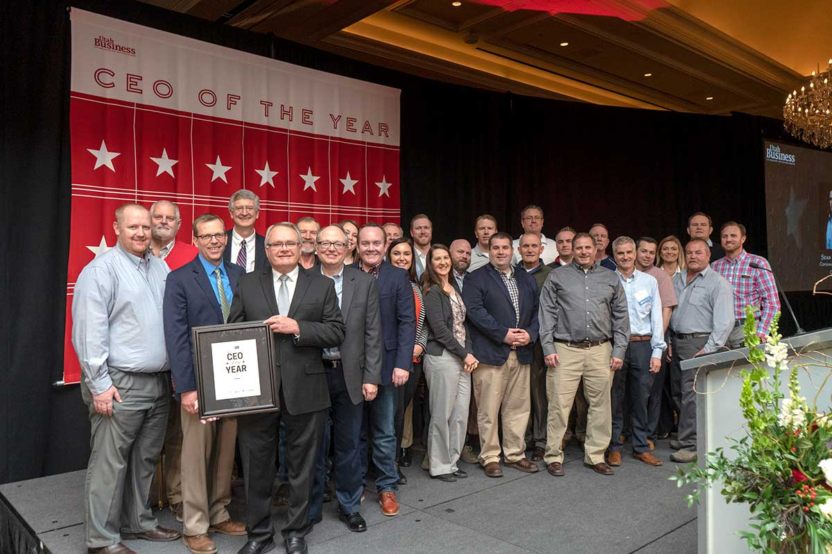 CEO of the Year with Geneva Rock employees