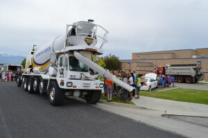 vehicle days, concrete mixer truck