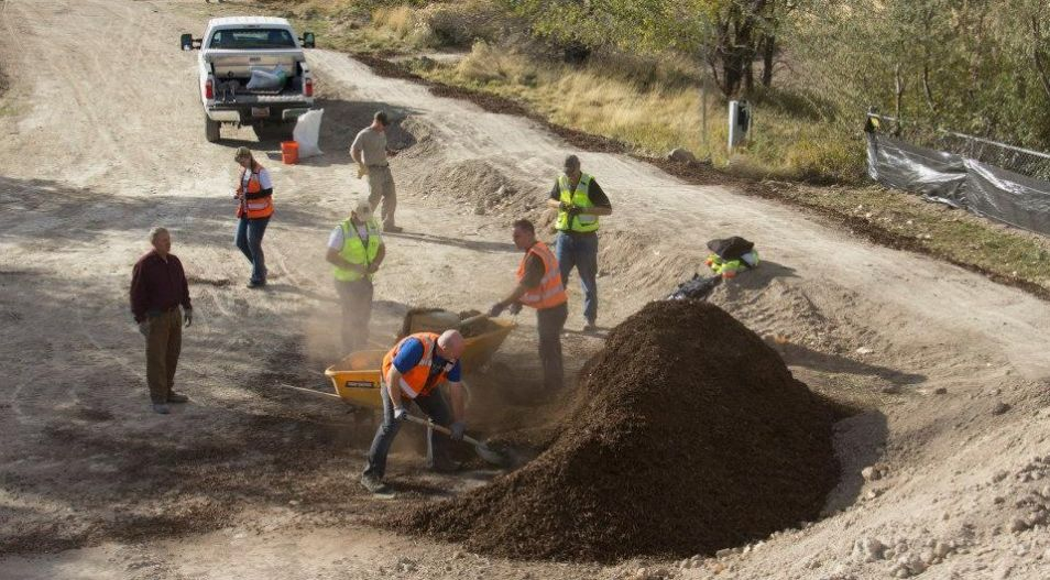 Employees Assist at Draper Cycle Park