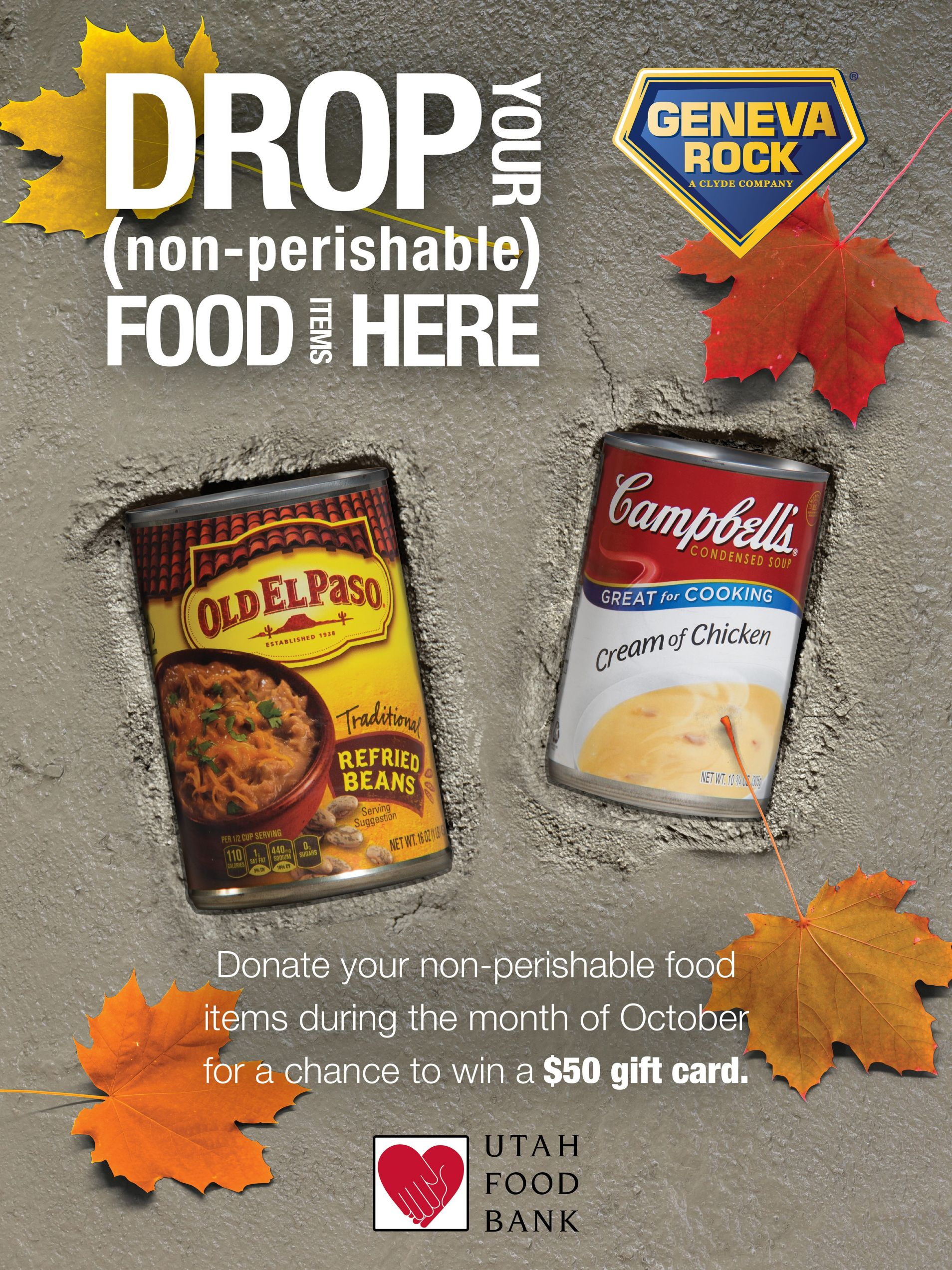 Geneva Rock Products Hosts October-Feast Food Drive