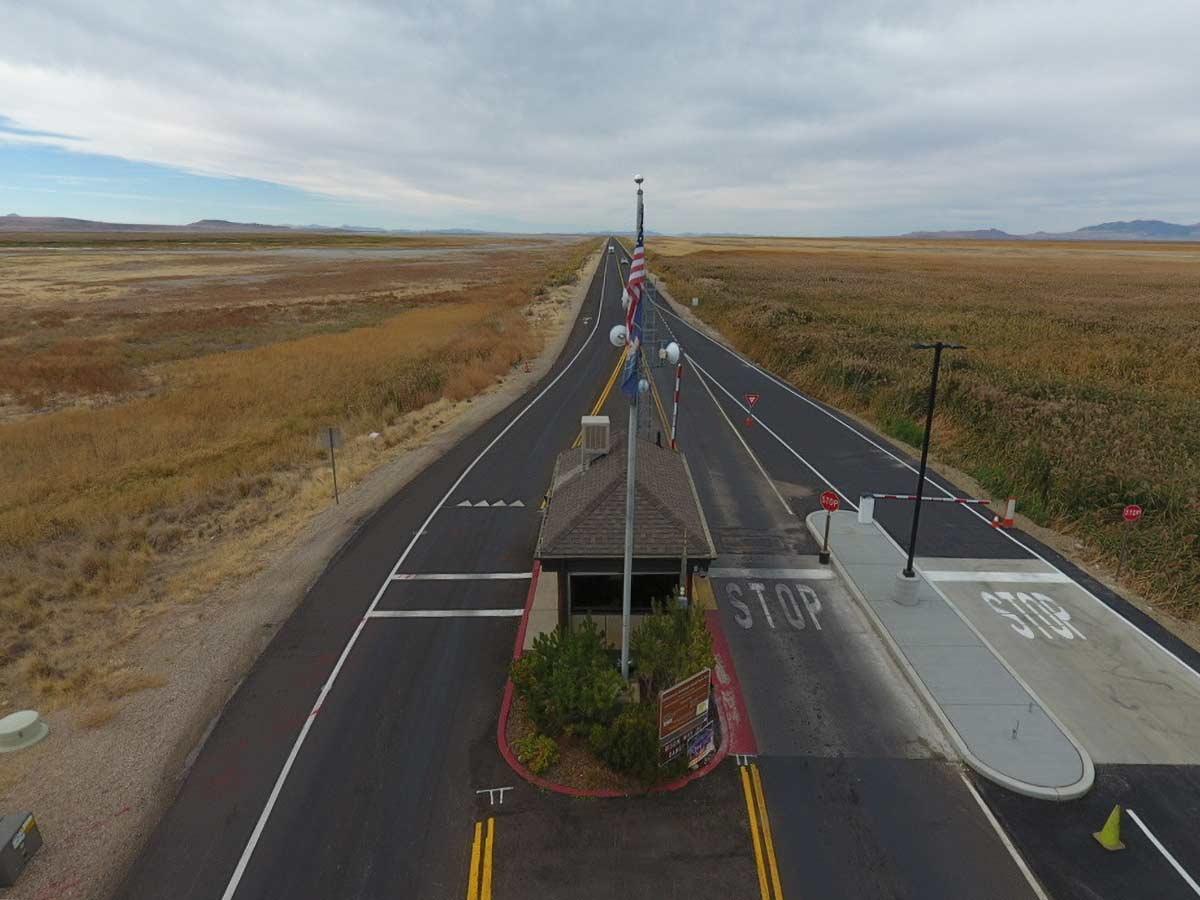 Pavement Preservation on Antelope Island Causeway at Antelope Island State Park Entrance