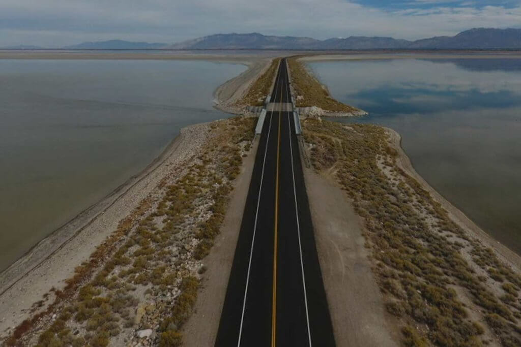 Pavement Preservation on Antelope Island Causeway