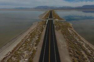 Pavement Preservation on Antelope Island Causeway