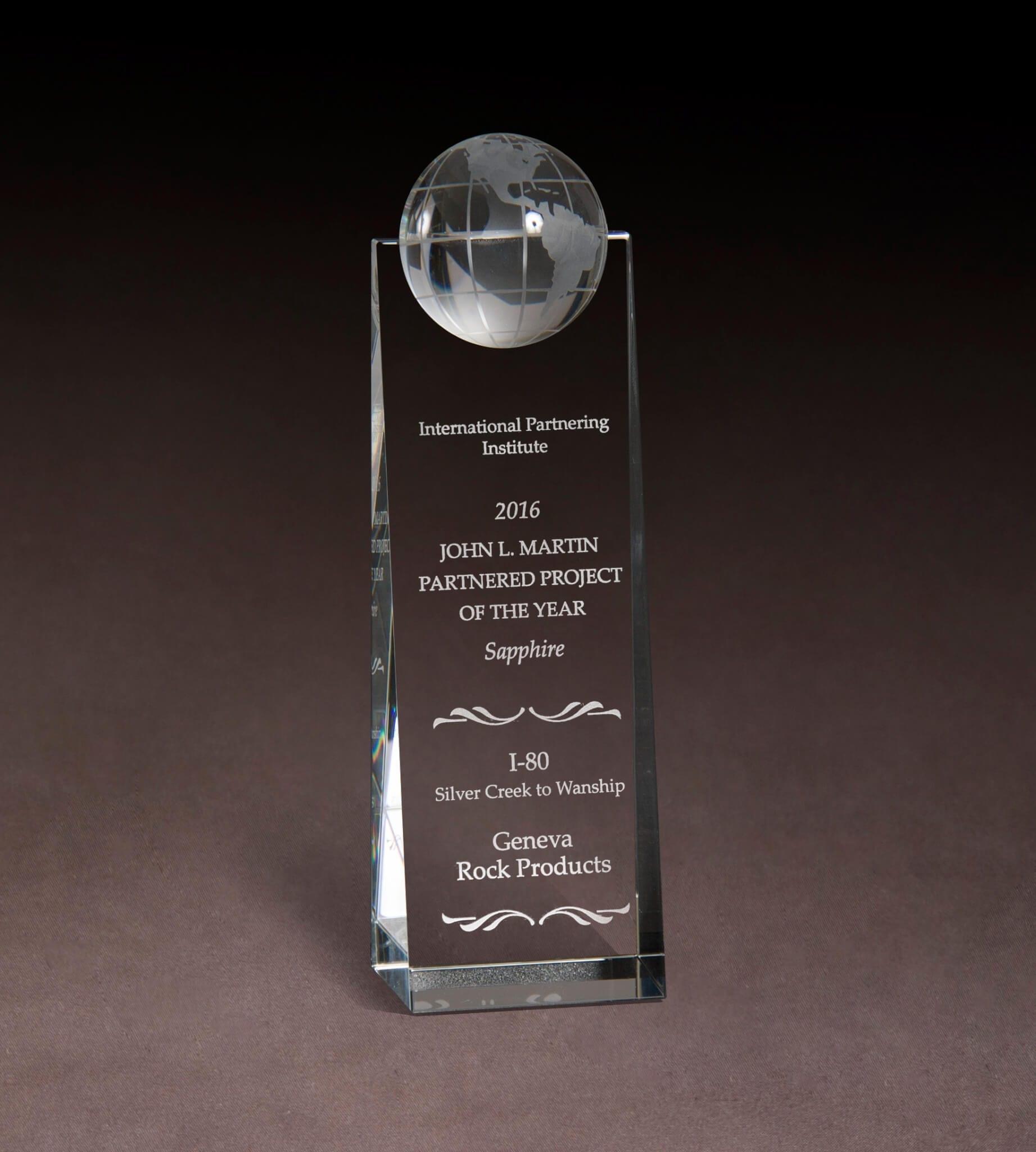 2016 John L. Martin Partnered Project of the Year Award
