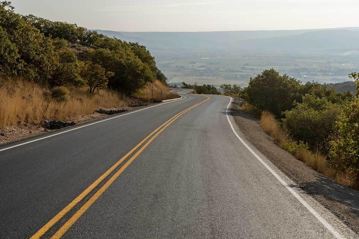Cascade Springs Road new asphalt