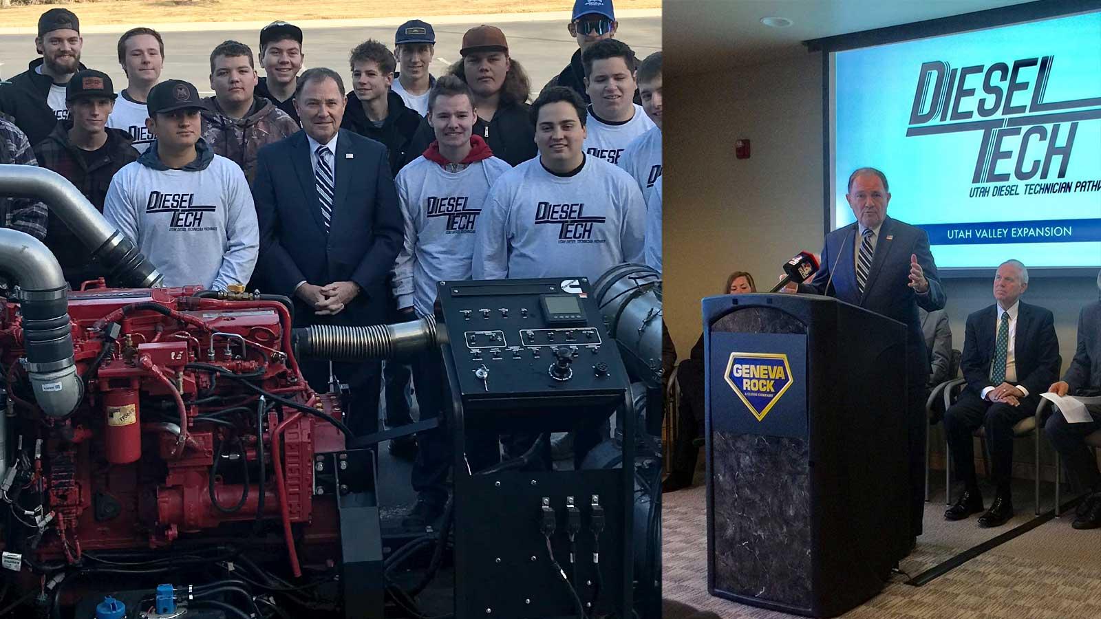 Diesel Tech Pathways with Governor Gary Herbert