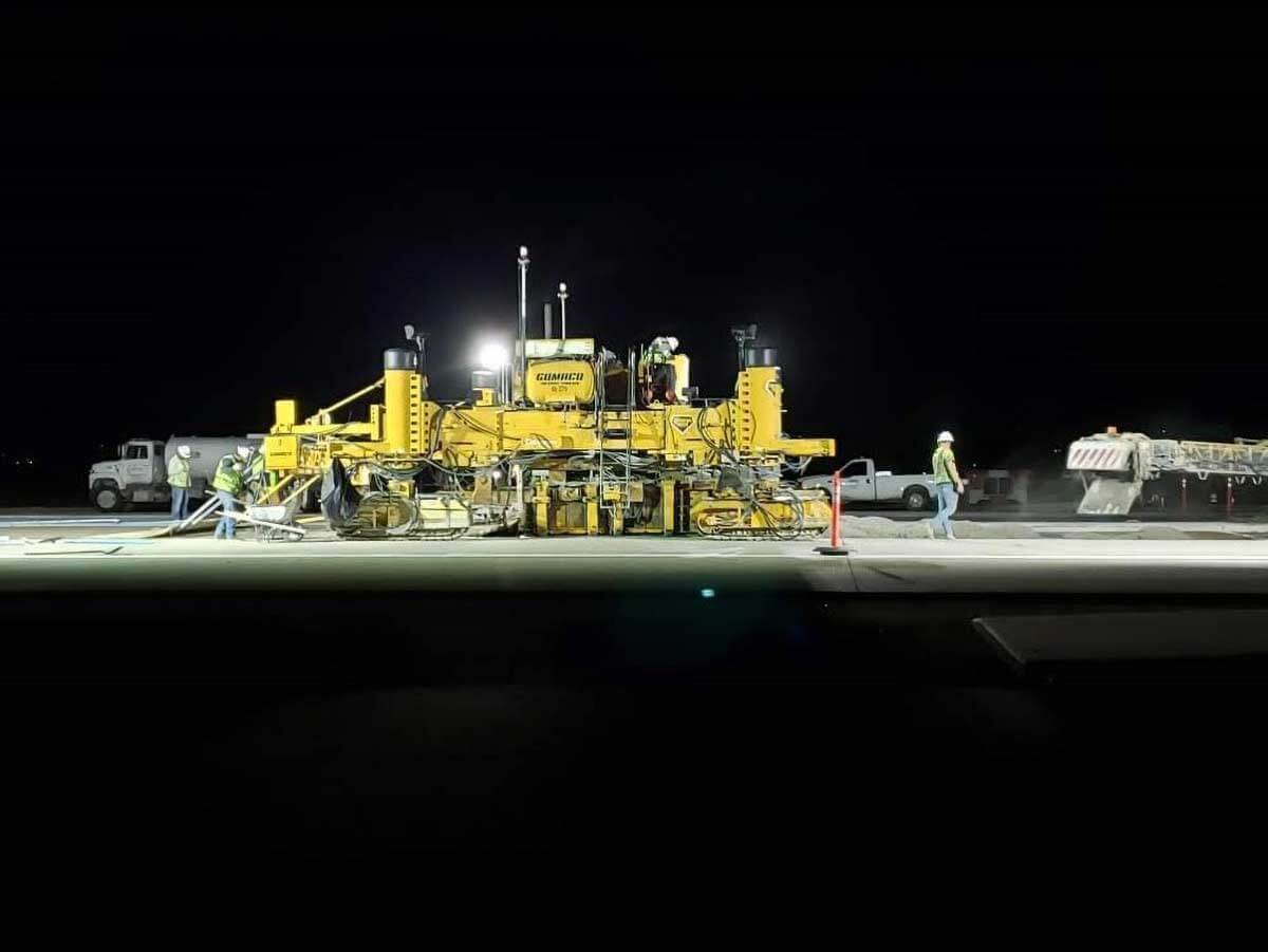 Hill Air Force Base Night Paving