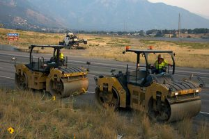 I-80 East side asphalt construction