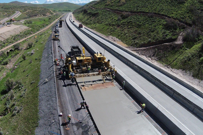 I-80 concrete paving