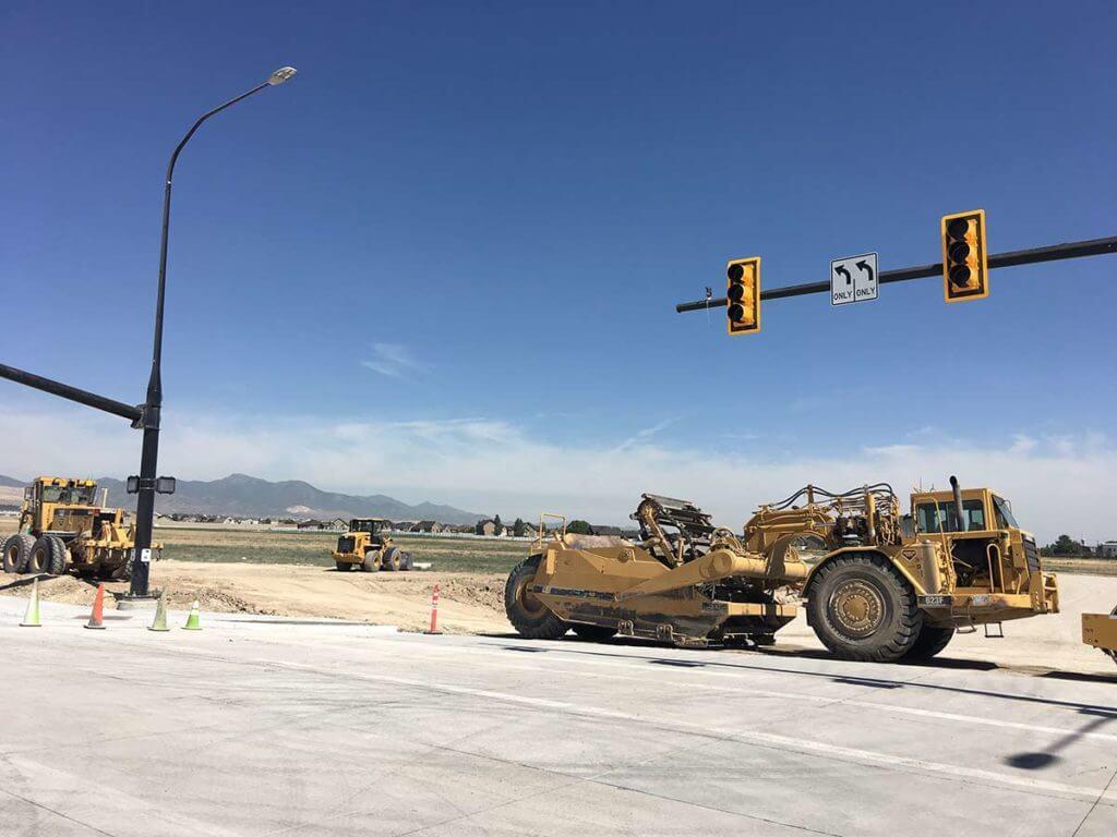 Mountain View Corridor Intersection Construction