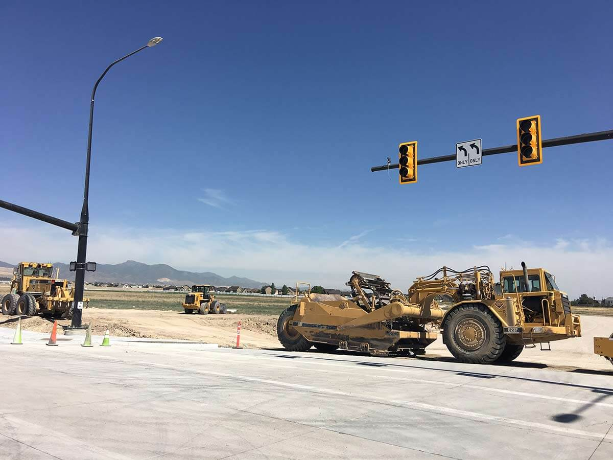 Mountain View Corridor Intersection Construction