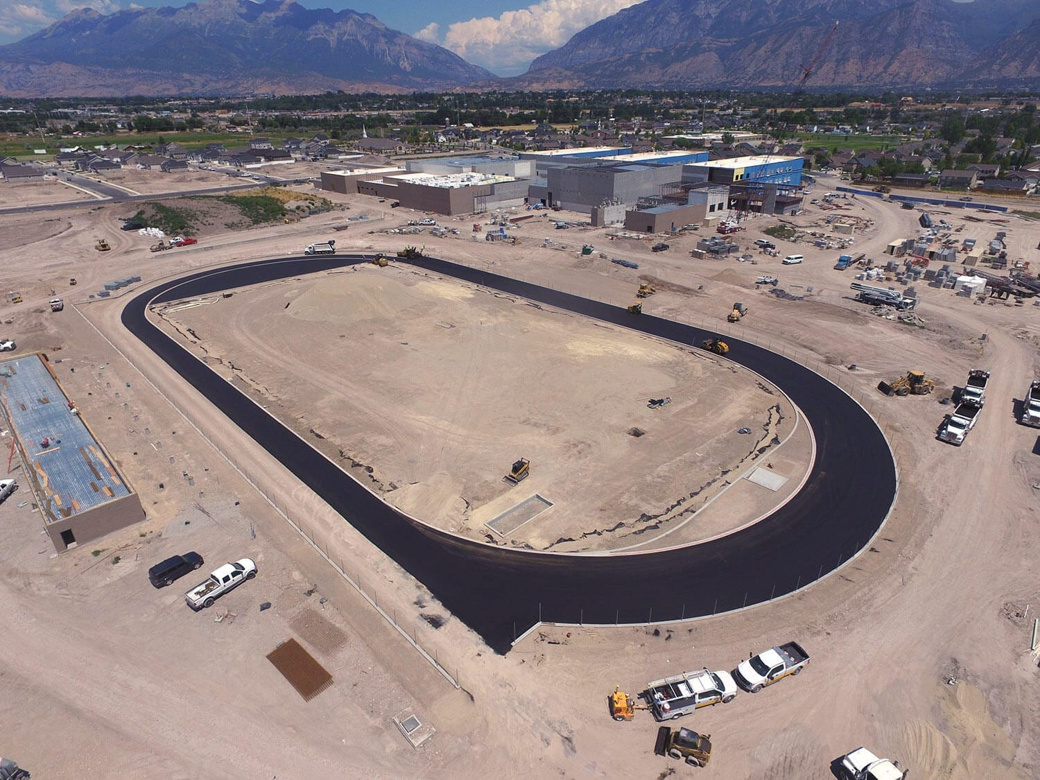Provo High School Track asphalt paving
