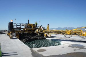Salt Lake City International airport redevelopment ready mix concrete paving