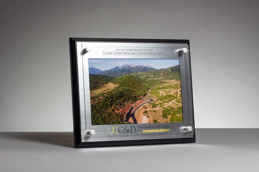 Utah Construction and Design Award for the Cascade Springs Drive Project for the Most Outstanding Highway Over $10M