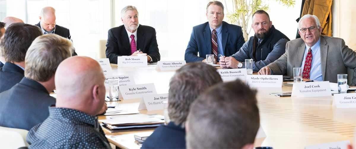 Geneva Rock meeting with local industry leaders