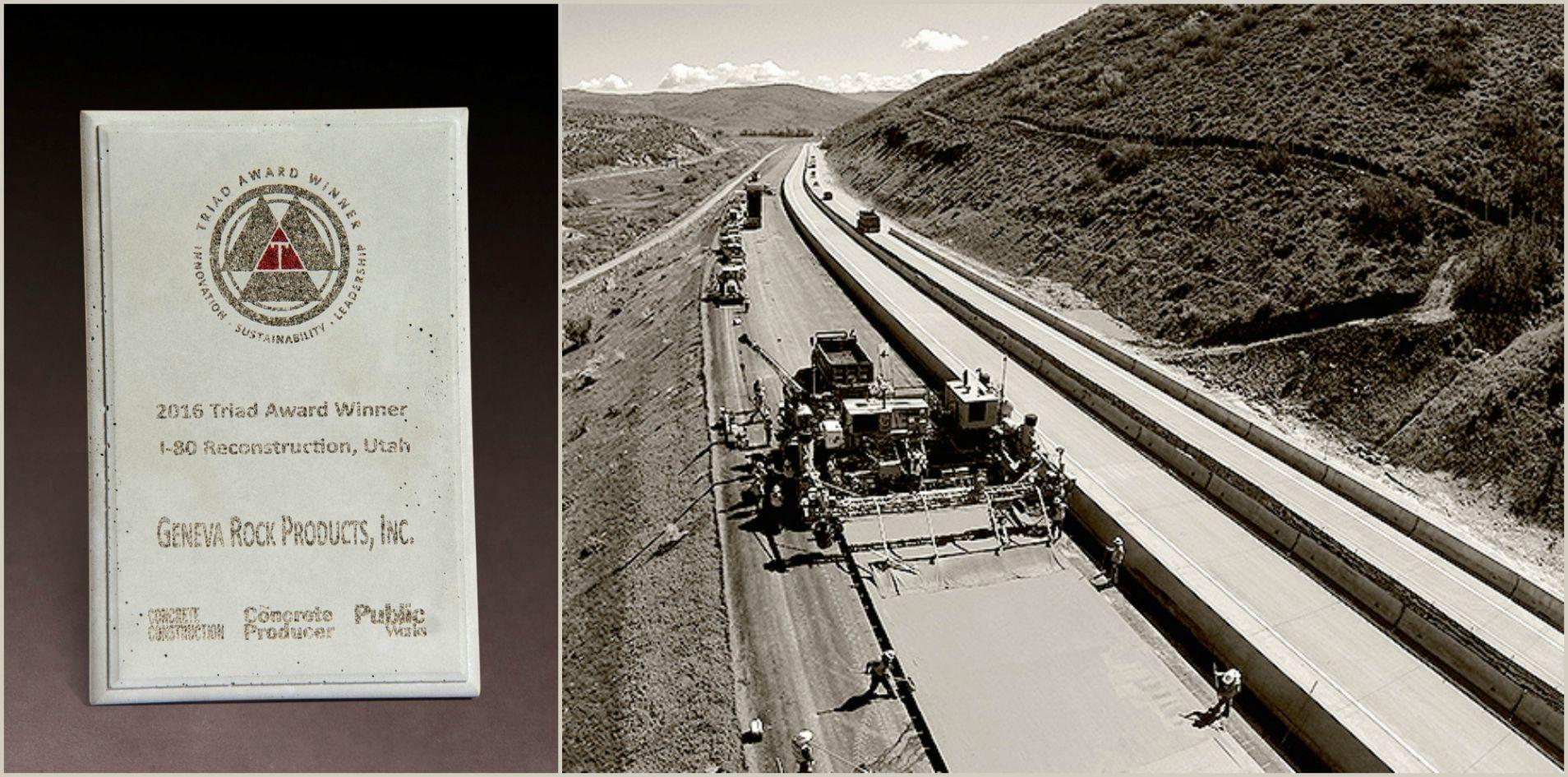 Geneva Rock Receives Triad Award for I-80 Reconstruction Project
