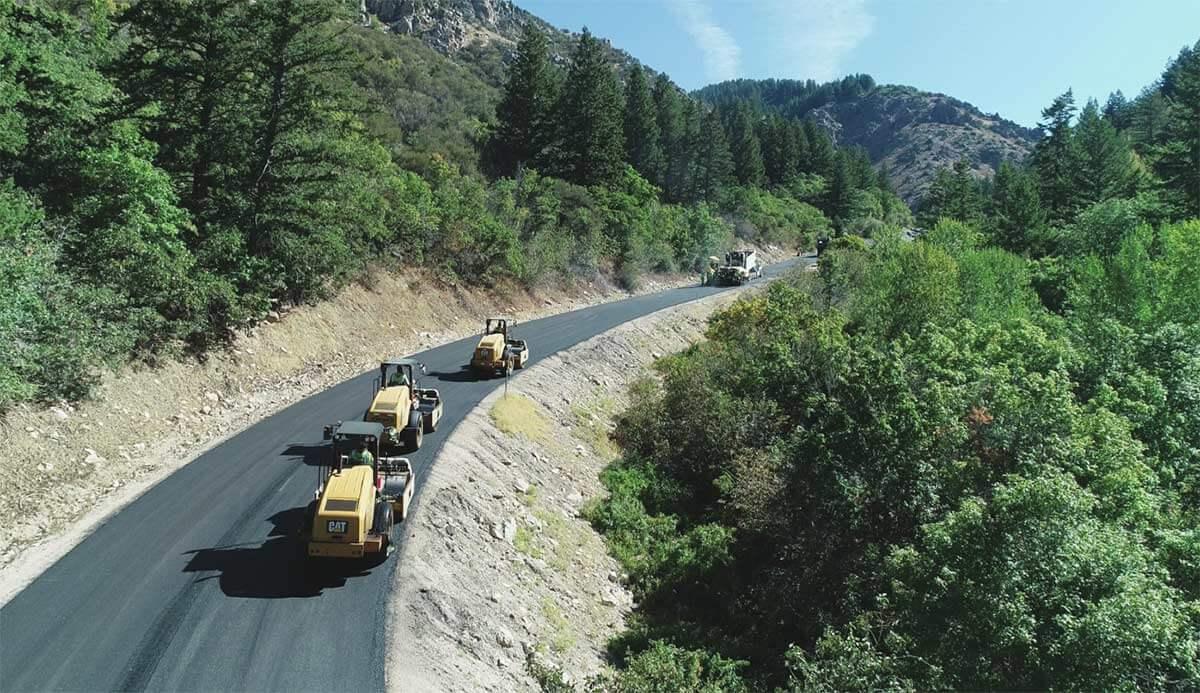 Powder Mountain new asphalt paving