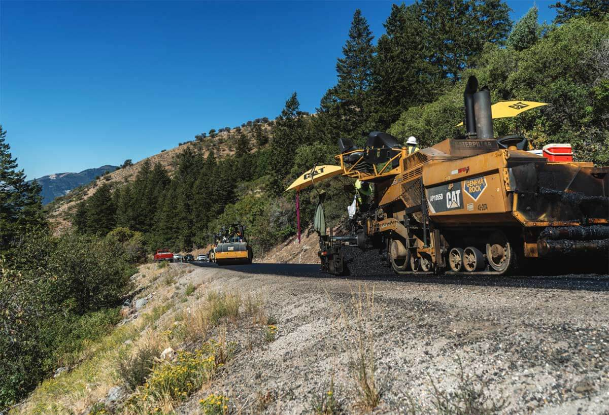 Powder Mountain new asphalt paving
