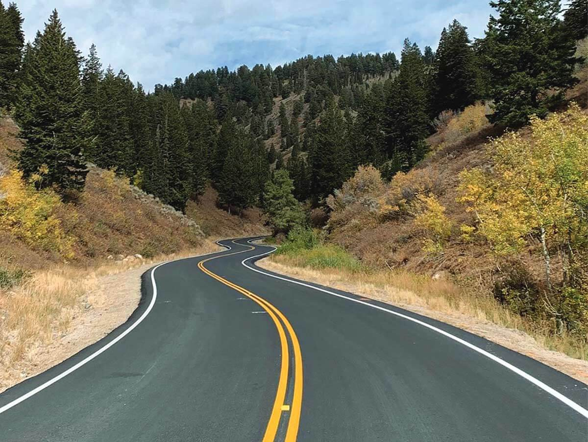 SR-39 Powder Mountain Road with new Pavement