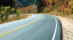 Powder Mountain Road with new Pavement