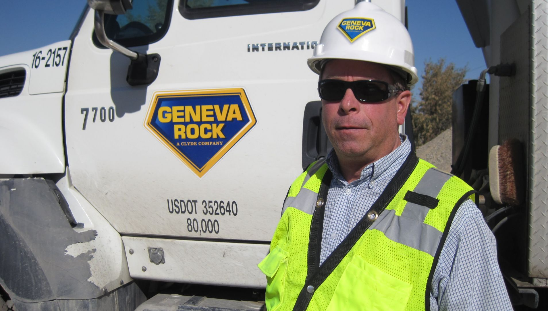 Geneva Rock Driver Recognized as Driver of the Month