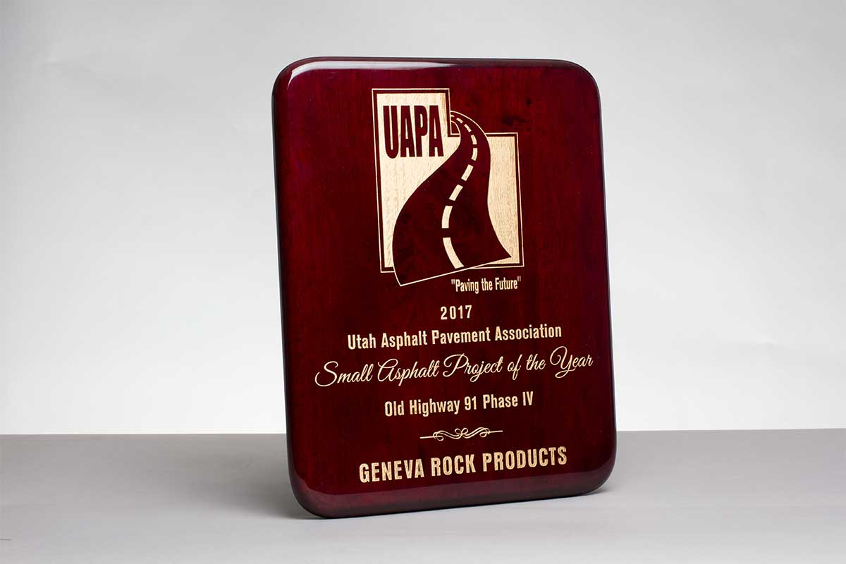 2017 Small Asphalt Project of the Year UAPA