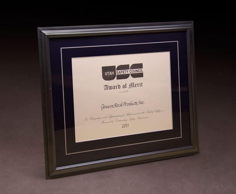 2011 Award of Merit – Utah Safety Council