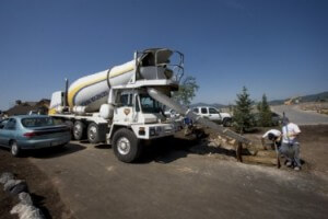 Geneva Rock Concrete Truck Pouring in Park City, Utah Concrete, ordering concrete, concrete delivery