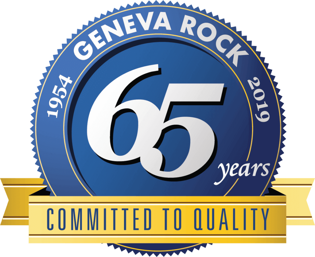 Geneva Rock 65 Year Anniversary Seal