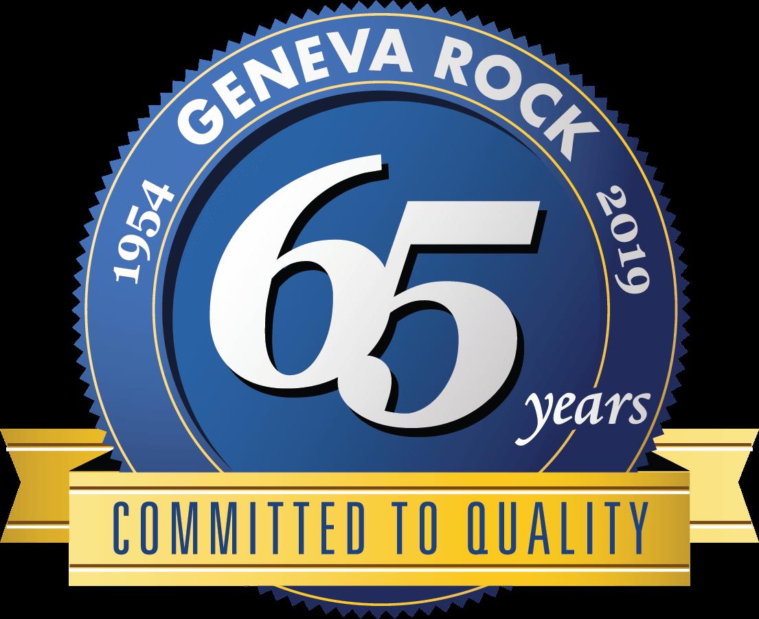 Geneva Rock 65 Year Anniversary Seal