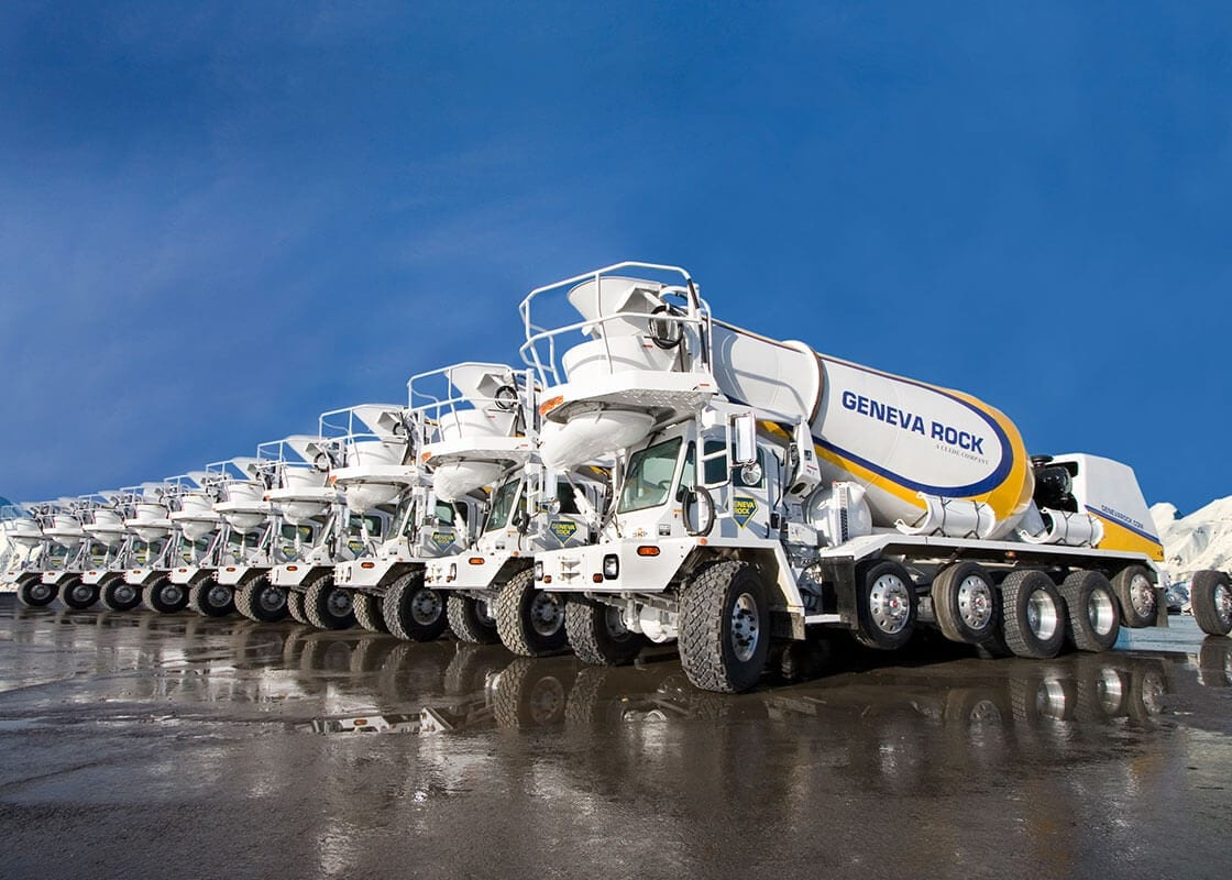 Fleet of Ready-Mix trucks
