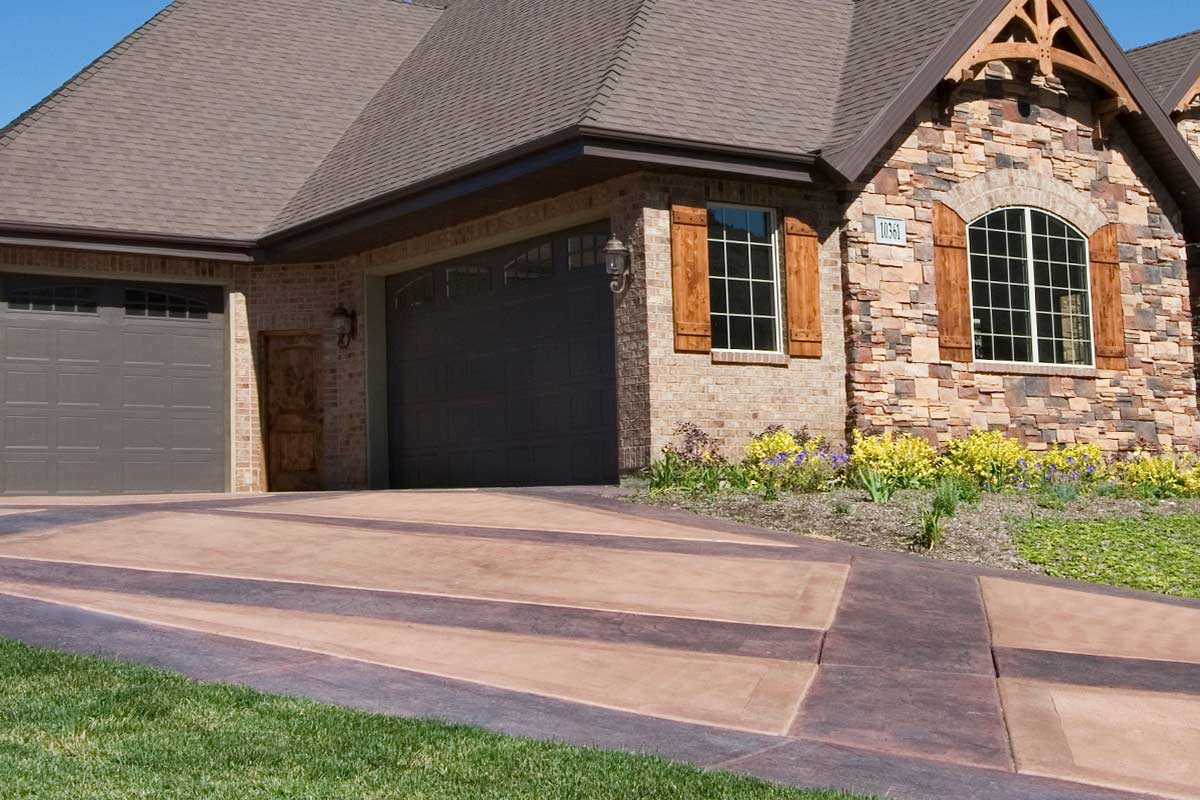 Custom colored concrete products