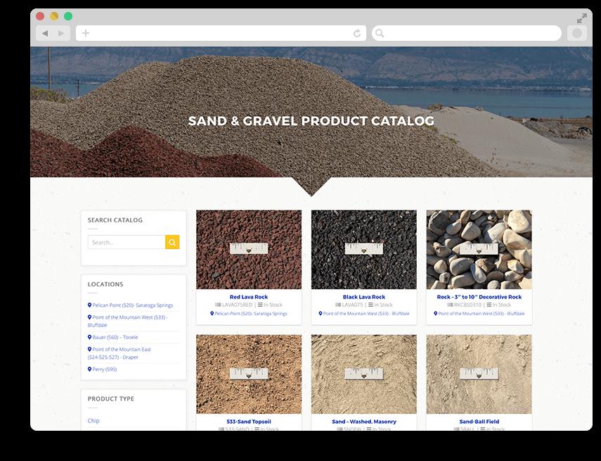 sand gravel catalog