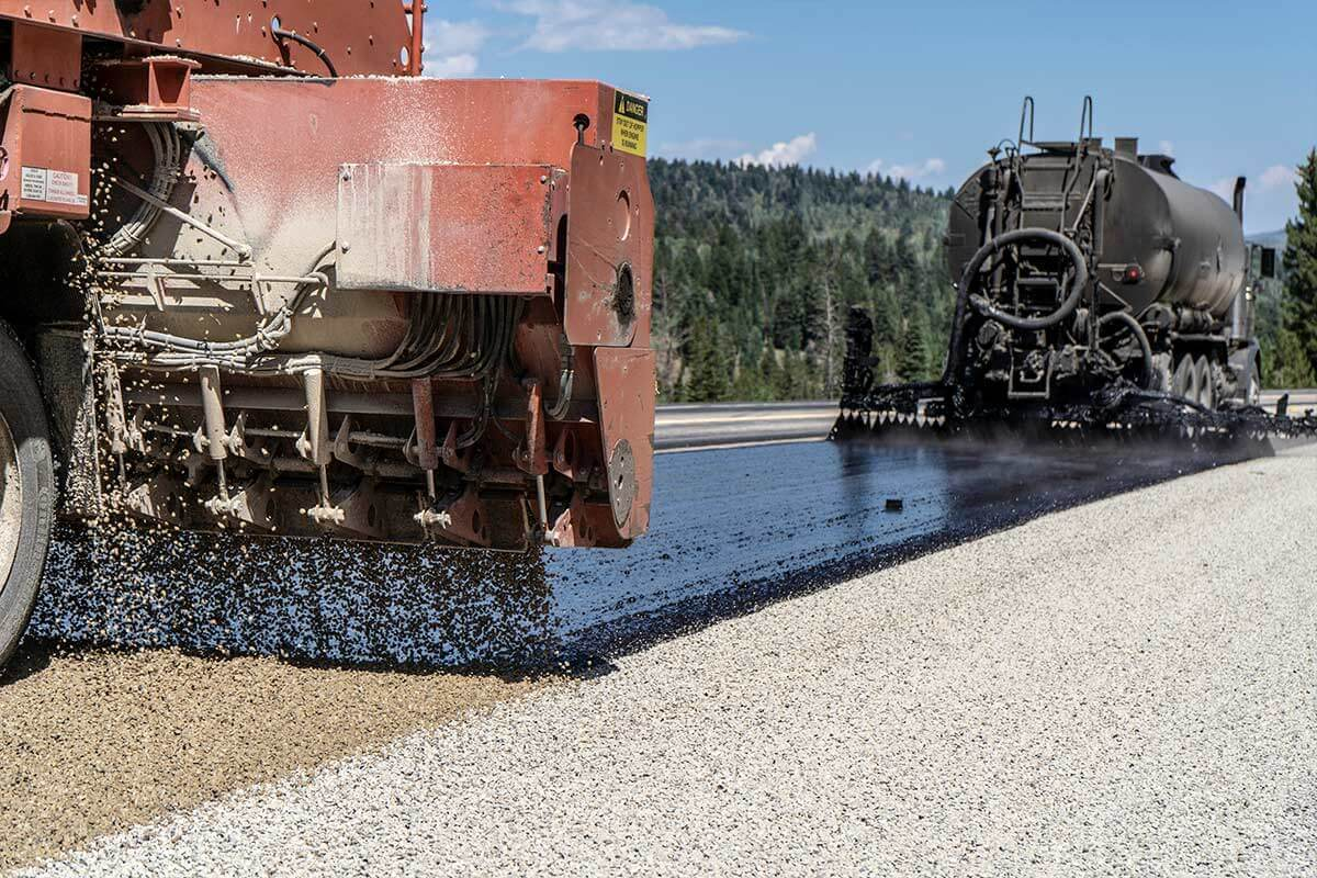 Chip Seal pavement preservation on Highway 40