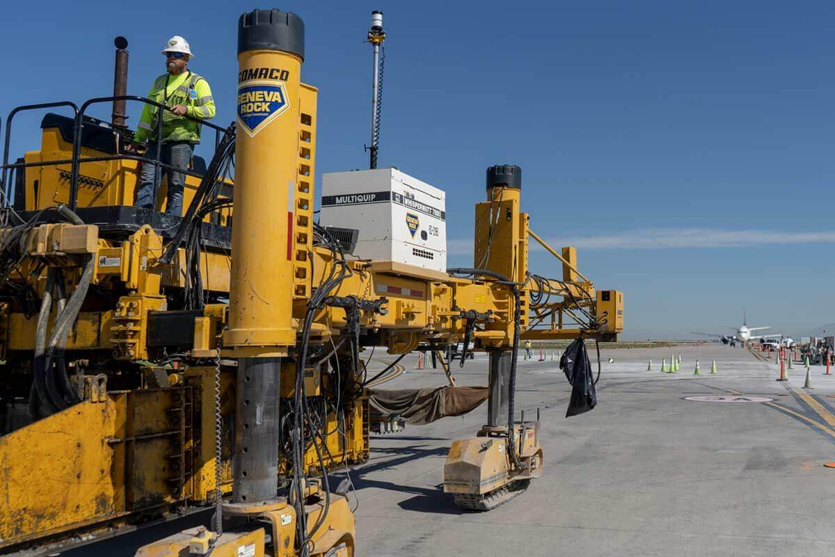 Concrete paving for new runway at Salt Lake City International airport